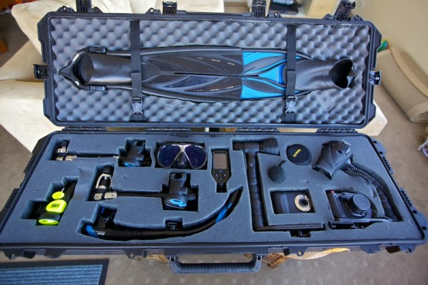 The inside of my demo Pelican case